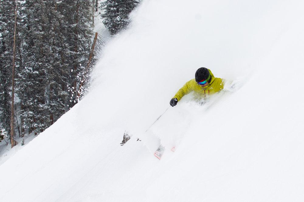 Getting deep on Ski Test day 2. - ©Cody Downard Photography
