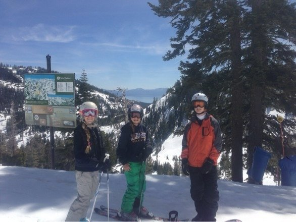 Killer Spring skiing! Tons of snow at Alpine. They have a huge base left