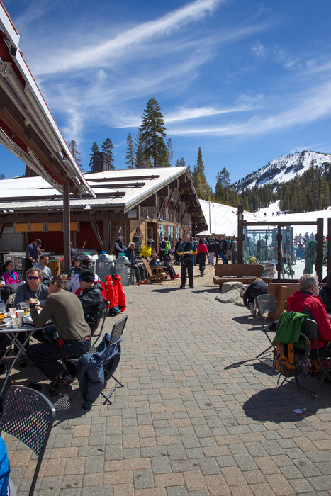 Lunchtime at Mammoth Mountain.