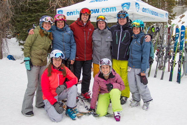 OnTheSnow staff living it up at Ski Test 2014 in Snowbird.