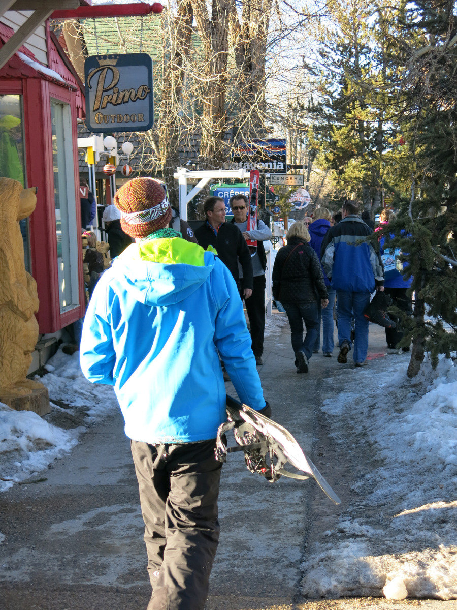 Streets are pleasantly busy in the village of Breckenridge