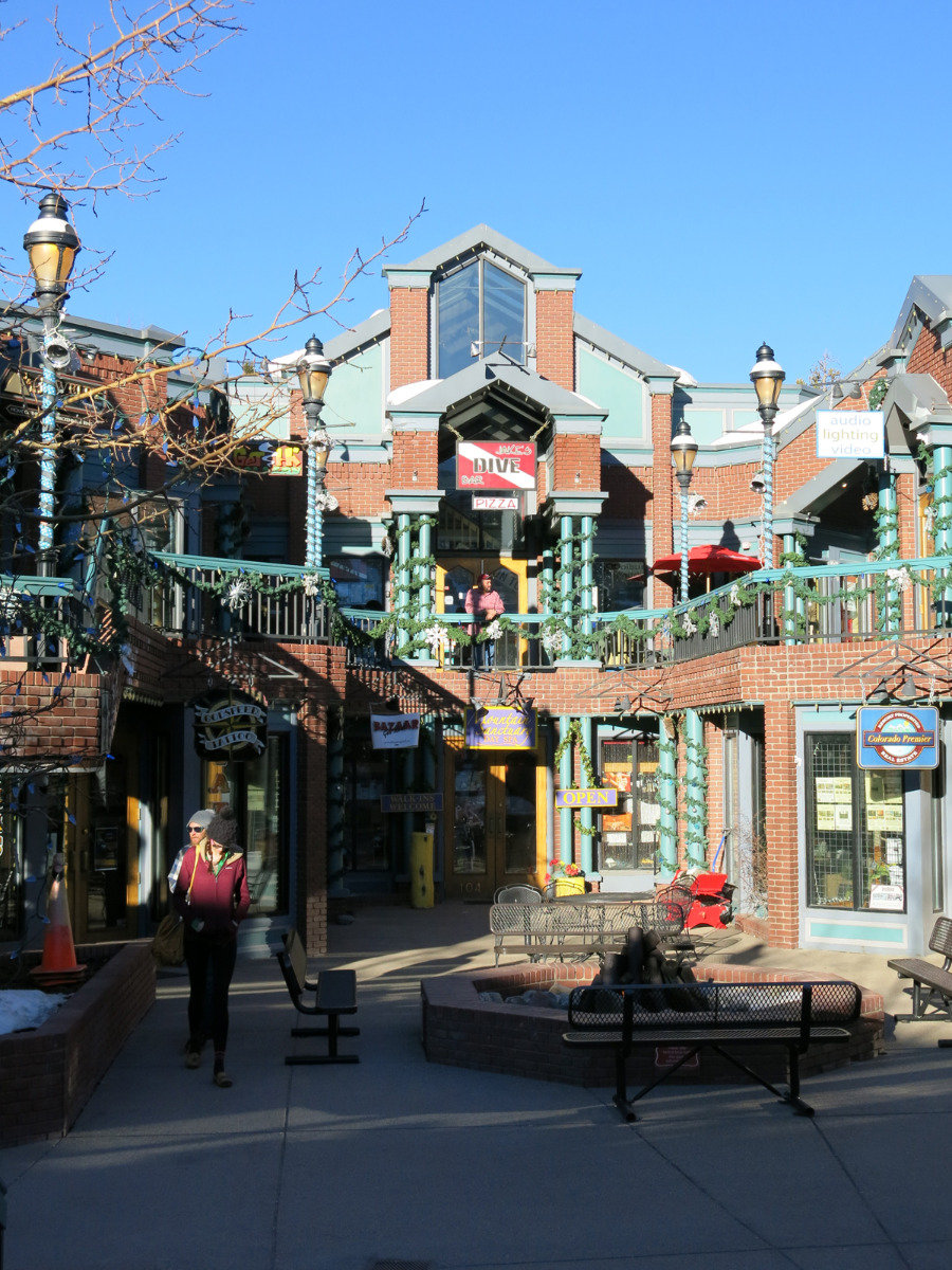 In the town centre of Breckenridge, Colorado
