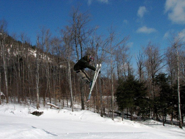 Skier at Whiteface, NY.