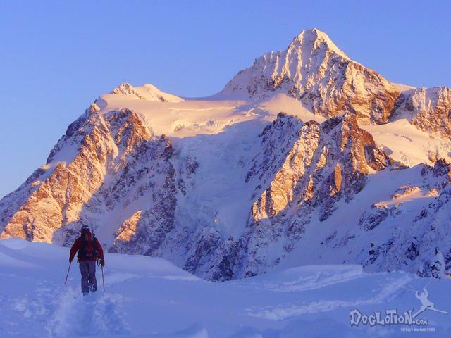 A skier at Mt. Baker, WA.