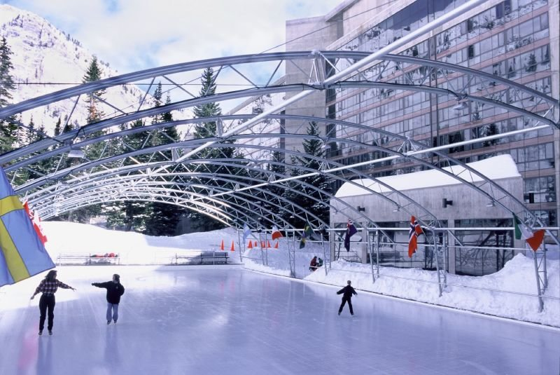 Ice skating rink in Snowbird, Utah