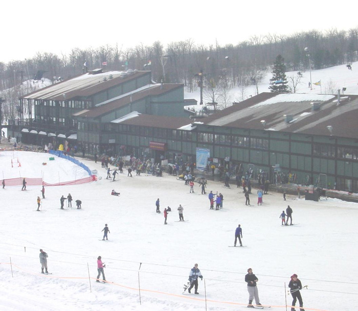 The lodge area at Spirit Mountain, MN.