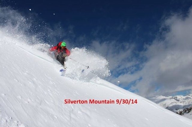 Already dumped in Silverton, pow day!!
