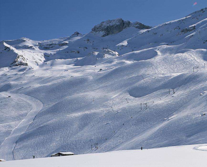 Scenic slopes of Adelboden.