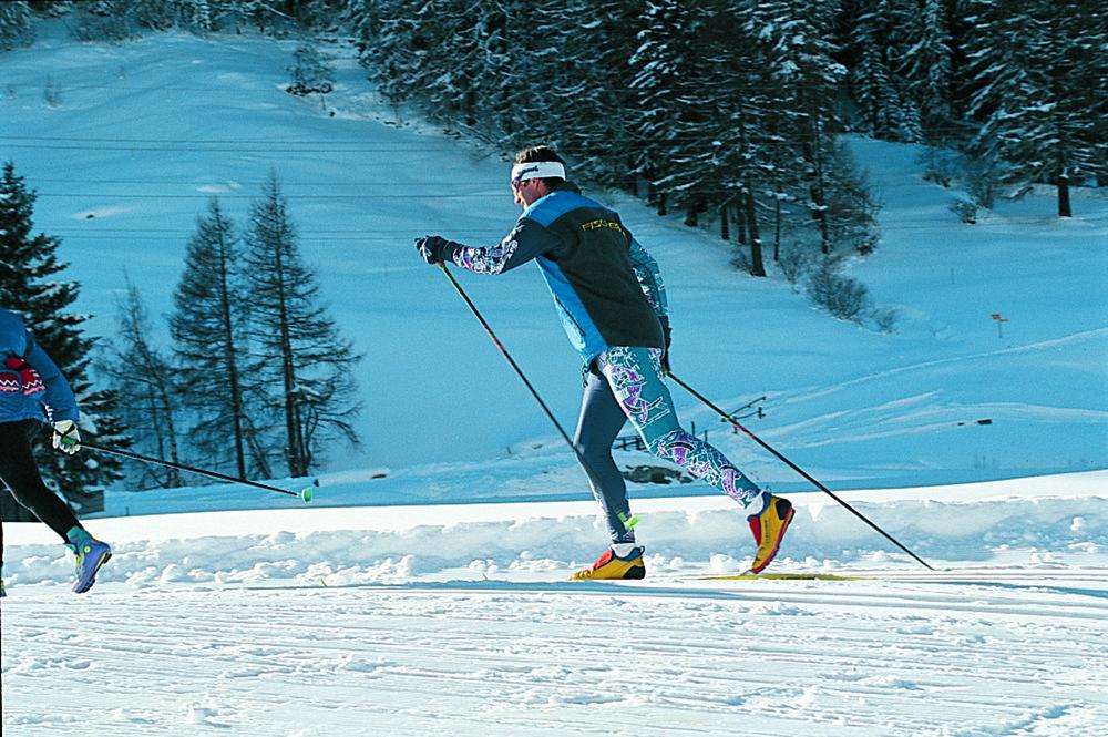Crosscountry skiers at Saas Fee/Saastal IV 7