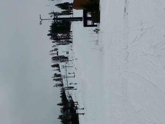 It was snowing!!! Since they only have a few lifts open its perfect for beginners.