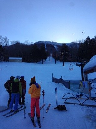 Opening day at Magic! Snow is a bit hard, but still excellent!