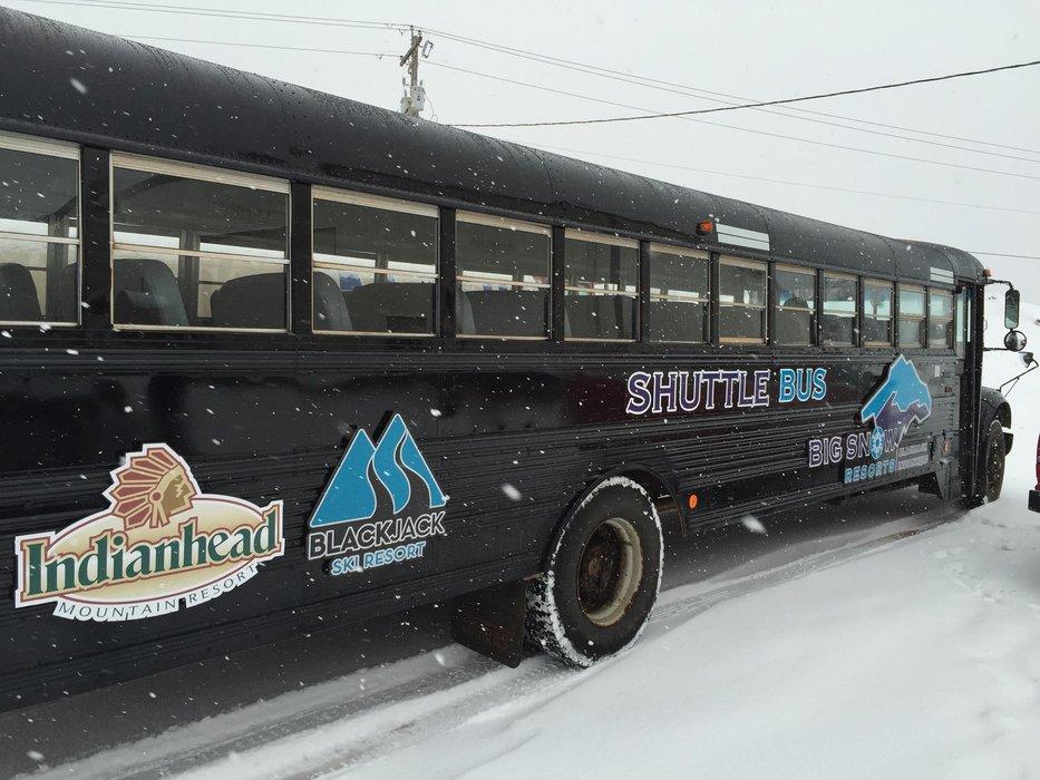 Big Snow Resorts runs a complimentary shuttle between Blackjack and Indianhead. - ©Blackjack Ski Resort