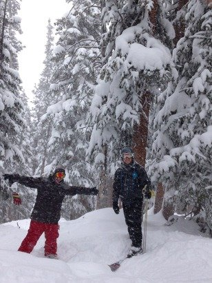 Snow was good today! Tree runs were amazing and bumble bee lift had great snow