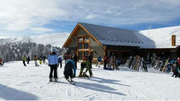 The new Lunch Rock is open. We are waiting for Panoramic to open so we can get to the powder.