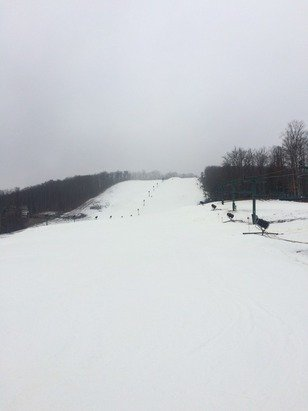 Rain rain go away!  Not great conditions but all of the front is snow covered. Go to Super Bowl for great skiing