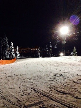 Sky Chair is open at night, bro! GNAR GNAR