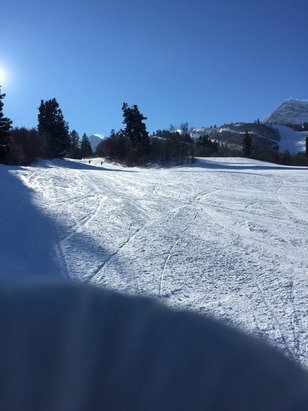 Extremely cold yesterday but great skiing!