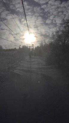 Great conditions! If you dress warm you'll have a blast...very little ice, fresh powder, and fairly short lift lines.