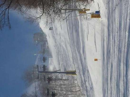 The crew at Liberty has done a great job covering the mountain with snow.