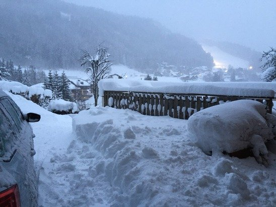 Just came of the slopes, another great powder day and it's still coming down!