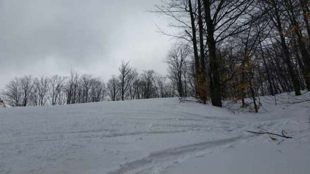 nice day of decent trails. icy in heavy used spots but easily avoidable. off trails and you can find some deep powder!