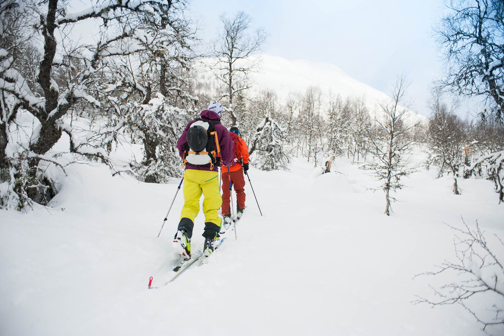 Vi var heldige og fikk nydelige forhold på vei opp Togga, sammen med breogfjell.no i Sogndal. - ©Eirik Aspaas