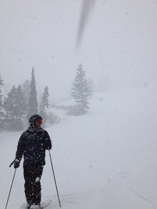 Great afternoon at snowbasin. Powdery waves. Yewwww!