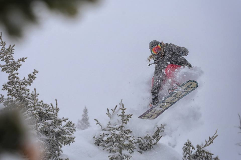 Powder hounds at Copper were jumping for joy after a foot of powder fell. - ©Tripp Fay / Copper Mountain