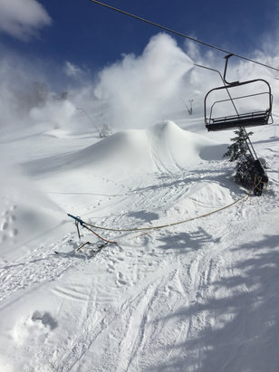 They are making a ton of snow on northface!  Conditions were good today!