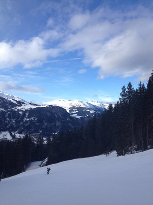 Good skiing up the ahorn , absolutely beautiful