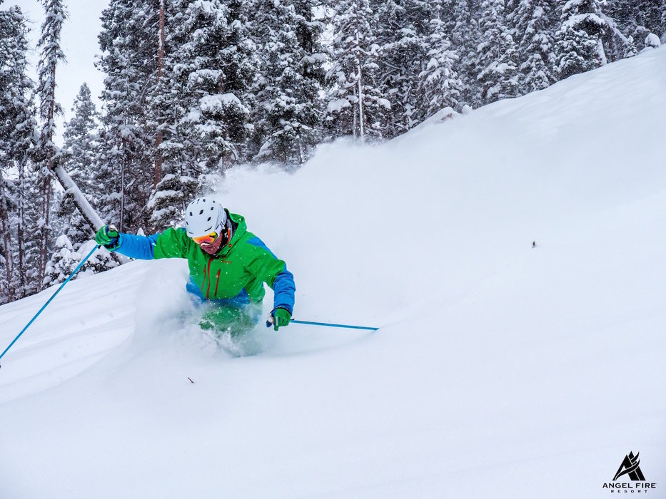 Powder returns in late February 2015 at Angel Fire Resort. - ©Angel Fire Resort