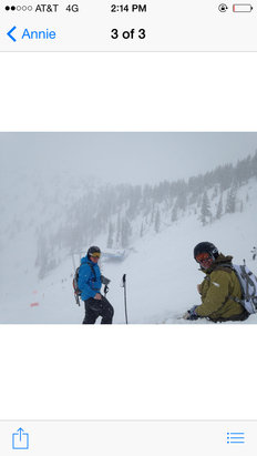 Snowbird - Too much snow.  Hard for me to turn. I felt like a first time skier today.  This mountain is for the pros!!!  Lots of people screaming everywhere.  They were having a blast!