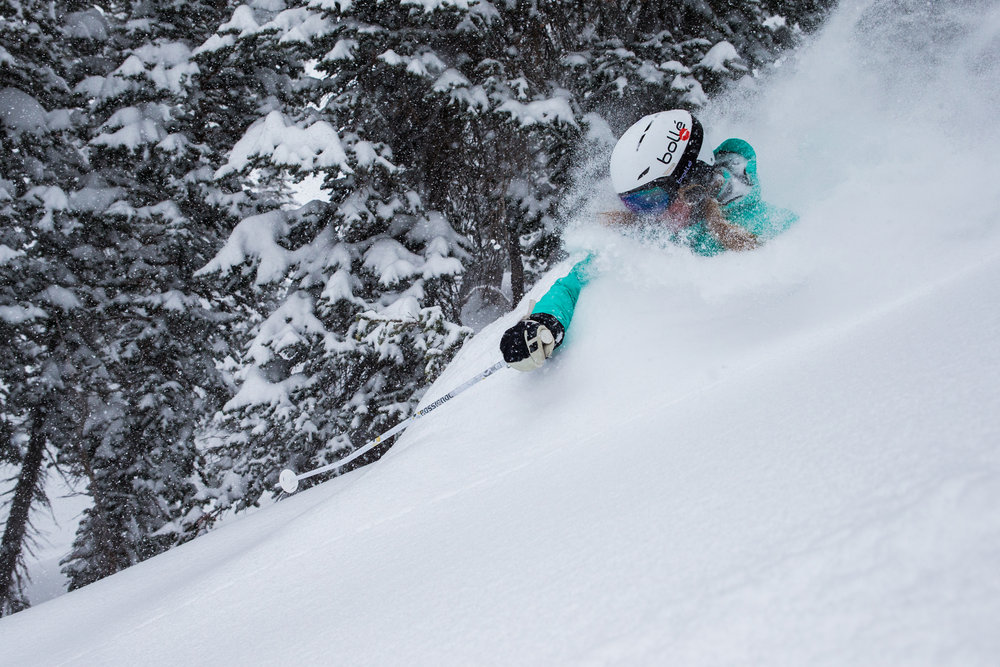 Tester Jill gets deep on day two. - ©Liam Doran