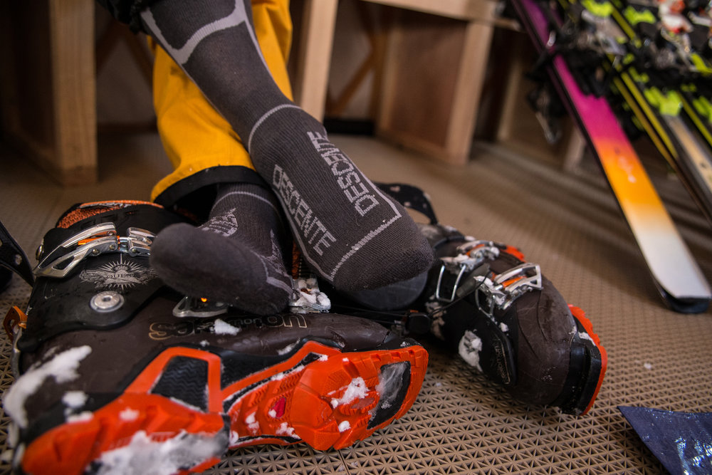That feeling when you peel off your ski boots after three amazing days. - ©Liam Doran