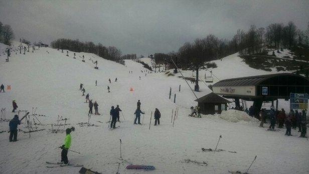 Crystal Mountain - beautiful day, minimal wait time, sugar snow.  - ©tonya.peet