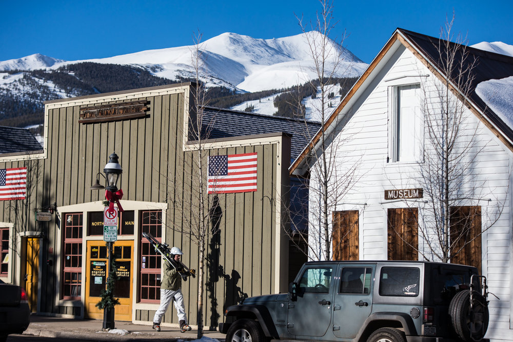 The proximity of town to mountain is one of the best things about Breckenridge. - ©Liam Doran