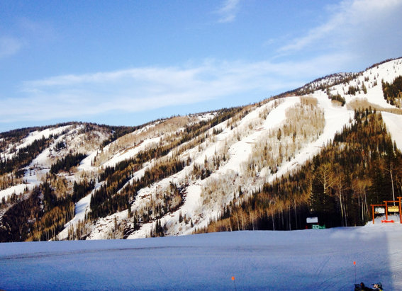 Steamboat - Good coverage from thunderhead up. Once it softens up it's just fine spring skiing!  - ©Jeff's Work iPhone