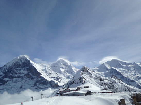 Grindelwald - Wengen - Firsthand Ski Report - ©Jennifer's iPhone