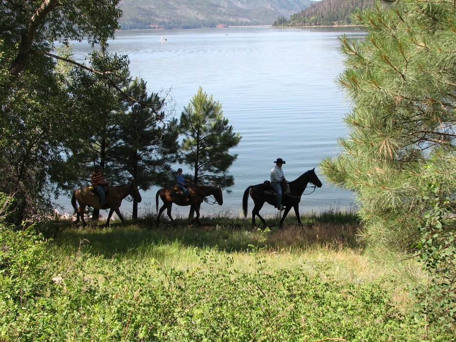 Horseback riders in Durango.