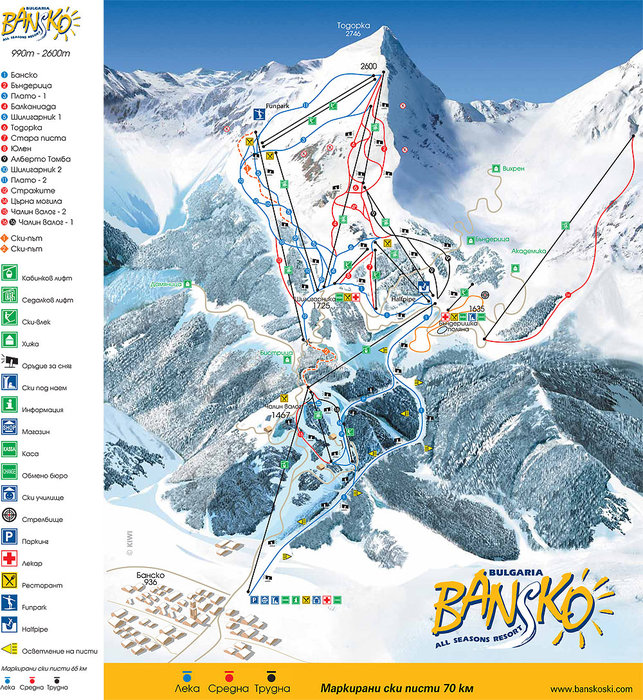Map - ©HIP 7 tourist transport @ Skiinfo Lounge