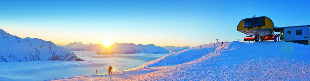 Ski resort Hochzeiger in Pitztal (AUT)