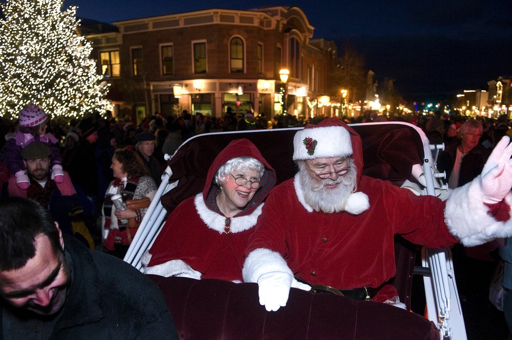 Santa and Mrs. Claus at Breckenridge, CO.Image by Carl Scofield.