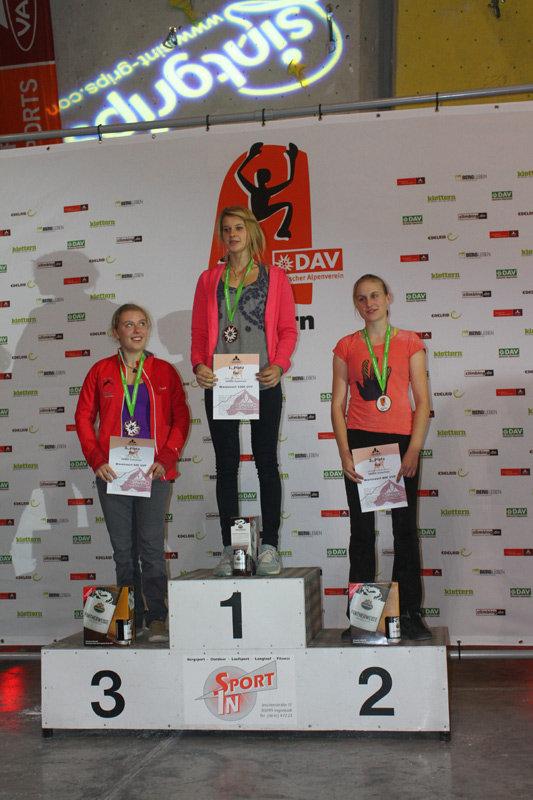Leadcup in Ingolstadt 2012: Sieger Juniorinnen - ©bergleben.de