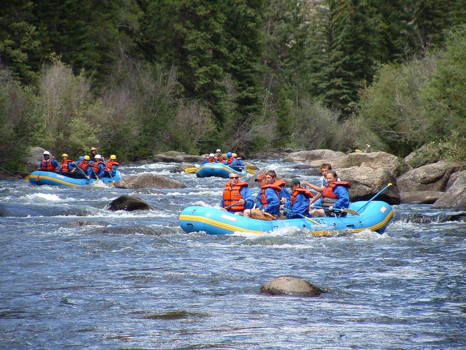Rafters on the Taylor River. Image by Gunnison-Crested Butte Tourism Association.