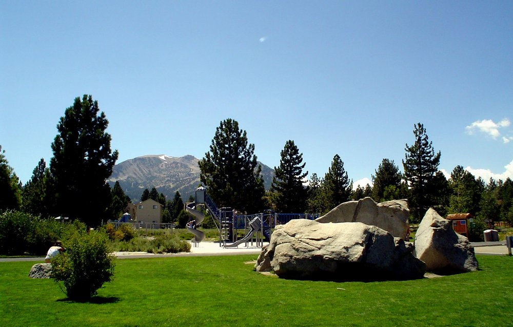 Kids play area at Mammoth Creek Park