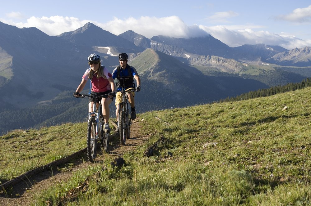 Mountainbikers at Copper, CO.