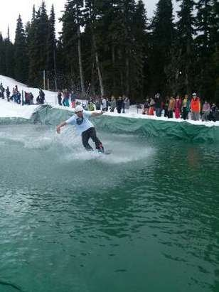 Whistler/Blackcomb - slush cup was a blast!