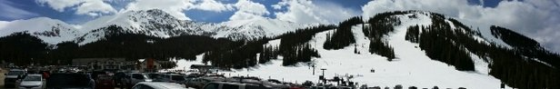 Arapahoe Basin Ski Area - Yesterday morning before the snow...