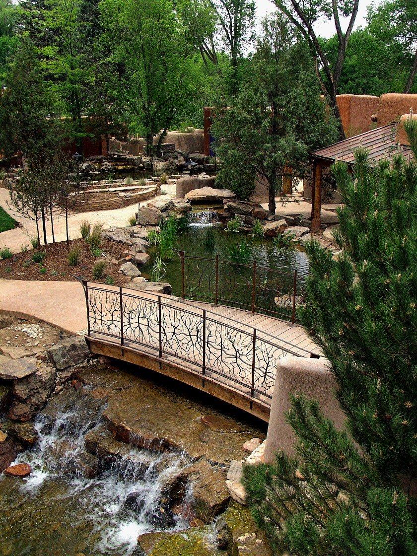 A serene bridge at El Monte Sagrado, Taos, NM.