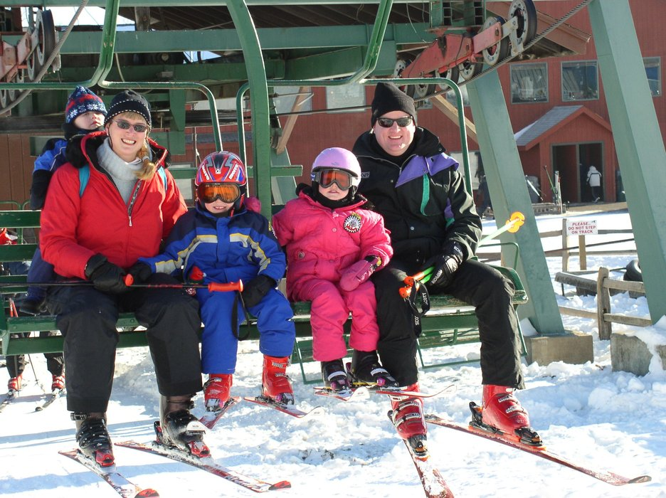 Frischmon family on chairlift at Wild Mountain, MN